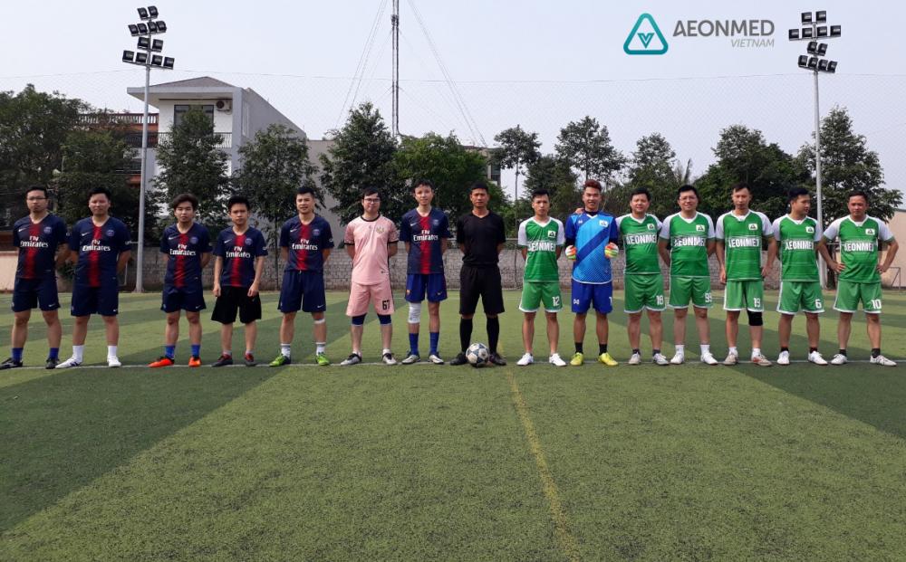 Giao hữu bóng đá giữa Công ty Aeonmed Việt Nam và Công ty Cổ phần thiết bị vật tư y tế Thanh Hóa